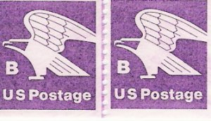 US Scott 1820 - Line Pair - B Postage - 18 cent - Mint Never Hinged