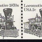 US Scott 1897A - Line Pair - Locomotive - Plate No 4 - 2 cent - Mint Never Hinged