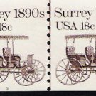US Scott 1907 - Coil Strip of 4 Plate No 9 - Surrey 18990s - 18 cent - Mint Never Hinged