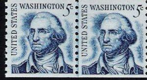 US Scott 1304 - Coil Line Pair - George Wasington - 5 cent - Mint Never Hinged