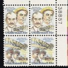 US Scott C92a  (C91 C92) Plate Blockof 4 Plate No 38857 - Wright Brothers 31 cent - MINT N H