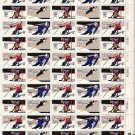 US Scott 1795A thru 1798A - RARE Bullseye perf Sheet of 50 - 1980 Winter Olympics-Mint Never Hinged