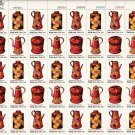 US Scott 1775 1776 1777 1778 - Sheet of 40 - Pennsylvania Toleware - Mint Never Hinged