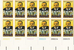 US Scott 1771 - Plate Block of 12 - Martin Luther King 15 cent - Mint Never Hinged