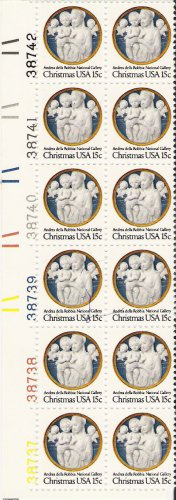 US Scott 1768 - Plate Block of 12 - Christmas 15 cent - Mint Never Hinged