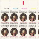 US Scott 1789 - Plate Block of 12 A00001-A00005 Top - John Paul Jones 15 cent - Mint Never Hinged