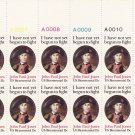 US Scott 1789 - Plate Block of 12 A00006-A00010 Top - John Paul Jones 15 cent - Mint Never Hinged