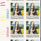 US Scott 1799 -Plate Block of 12 (left) -Christmas 1979 Virgin and Child 15 cent -Mint Never Hinged