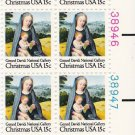 US Scott 1799 -Plate Block of 12 (right) -Christmas 1979 Virgin and Child 15 cent -Mint Never Hinged