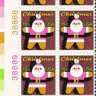 US Scott 1800 - Plate Block of 12 (left) - Christmas 1979 Santa Claus 15 cent