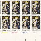 US Scott 1842 - Plate Block of 12 LL - Christmas 1980-religious 15 cent - Mint Never Hinged