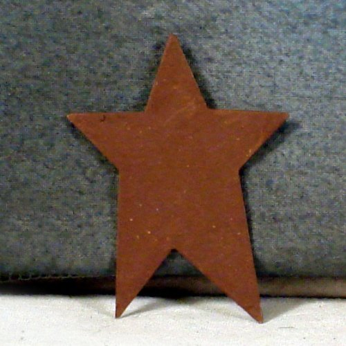 "12 --- 4"" Primitive Rusty Tin STARS -Craft Supplies"