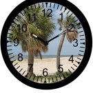"9"" Personalized Tropical Palm Tree Beach Clock"