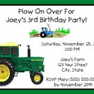 20 Personalized Tractor Birthday Party Invitations
