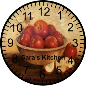"""9"""" Personalized Country Apple Clock"""