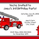 20 Personalized Fire truck Birthday Party Invitations~Firetruck