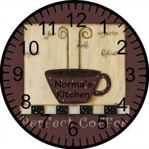 "9"" Personalized Coffee Clock"