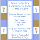 50 Footprint Baby Shower Invitations-Boy or Girl