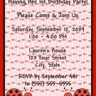 20 Personalized Ladybug Birthday Party Invitations