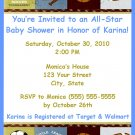 30 Personalized Sports Baby Shower Invitations