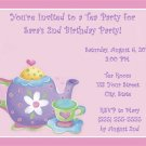 20 Personalized Tea Party Birthday Invitations