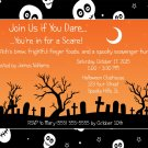 20 Spooky Skulls Halloween Party Invitations~Birthday