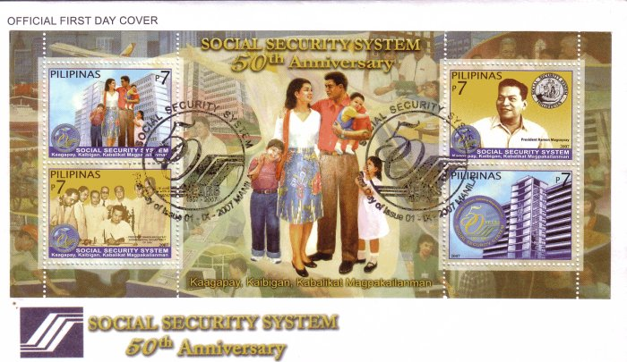 Philippines Social Security System 50th Anniversary S/S