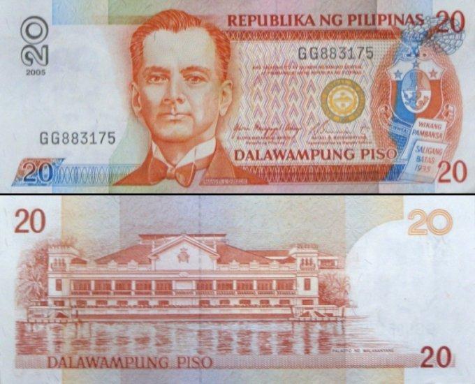 Philippines Twenty 20 Pesos Banknote