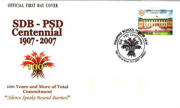 Philippines School for the Deaf Centennial Single Stamp FDC