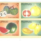 Philippines Fruits Block of 4