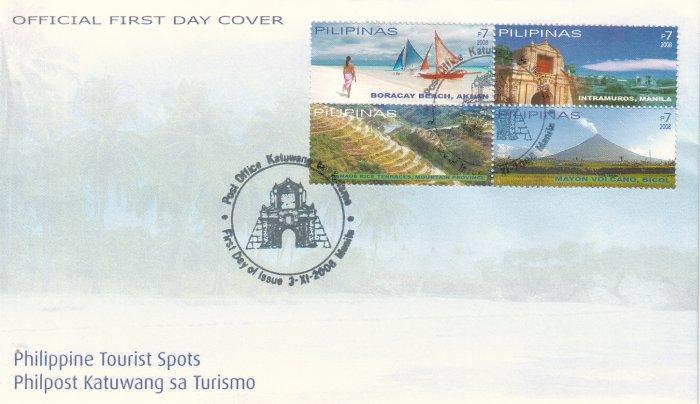 Philippine Tourism 4v FDC