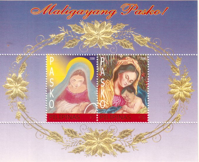 Philippine Christmas 2008 Madonna and Child S/S
