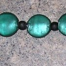 A8 - Bracelet -  Emerald Colored Beads with Black Accents