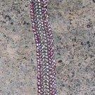 A25 Bracelet - Ndebele pink and silver bracelet