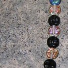 A31 - Bracelet - Czech Black and Blue Irridescent Beads