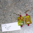 E19 - Earrings - Yellow millefiori