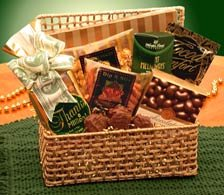 Buy unique gift baskets - Golden Thank you Gift Basket