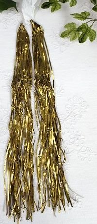 *GOLD* Lametta LEAD TINSEL ICICLES HEAVY METAL *GOLD*