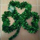 St Patricks Day shamrock tinsel wreath