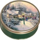 Jane Parker Fruit Cake 3 lb + COLLECTIBLE CHRISTMAS TIN! Thomas Kinkade & More