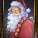 "Christmas Framed Santa Claus Portrait 15""x21"" Susan Comish St Nick Jingle Bells"