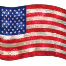 Patriotic Lights - Lighted Flag Window Decoration, Old Glory Shimmer Flag