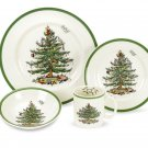 SPODE CHRISTMAS TREE 4 PIECE PLACE SETTING MSRP $133.00 BRAND NEW IN BOX