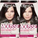 L'Oreal Paris Sublime Mousse Healthy Look Hair Color, # 20 Pure Black