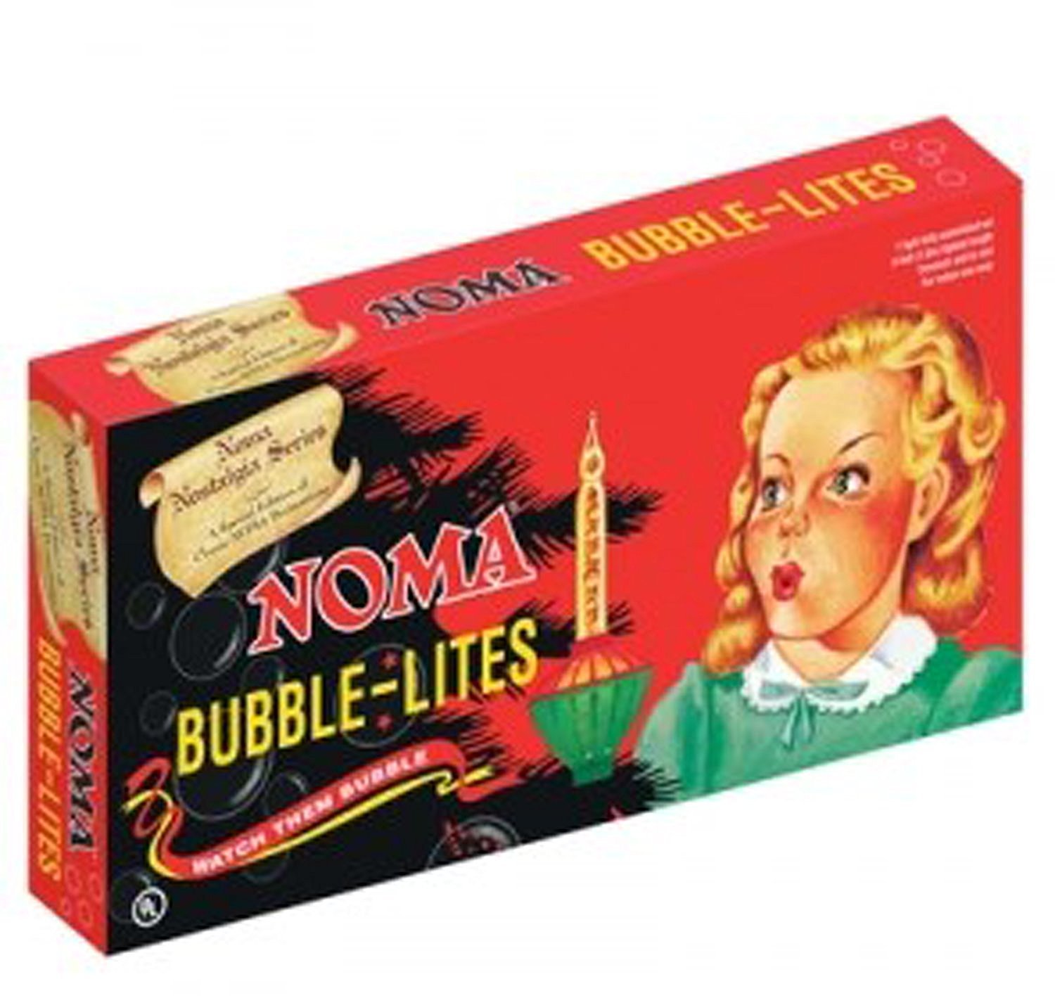 NOMA VINTAGE REPRO CHRISTMAS BUBBLE LIGHTS Red Gold Multi 7 bulb NEW
