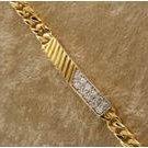 14KT GEP pave 1ct diamond simulated bracelet