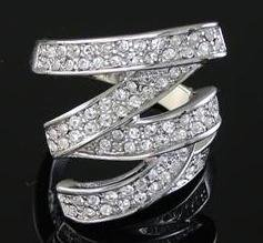 Genuine Swarovski crystal ring, size 8 (fr-24)
