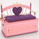 Levels of Discovery PINK Princess Toy Box Bench LOD20007