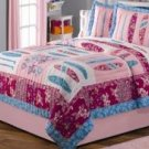 2PC Pink Surfer Chick Twin Quilt Bedding QS2578TW
