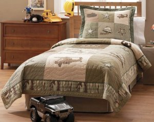 3PC Camo Alpha Bravo Charlie Full/Queen Quilt Bedding QS3968FQ